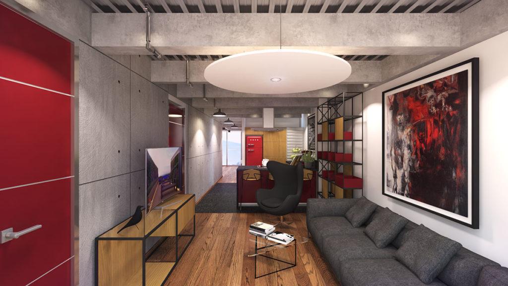 Habitación del edificio Blit donde se ha desarrollado un proyecto integral de arquitectura e interiorismo por Manuel Torres Design en Bogotá