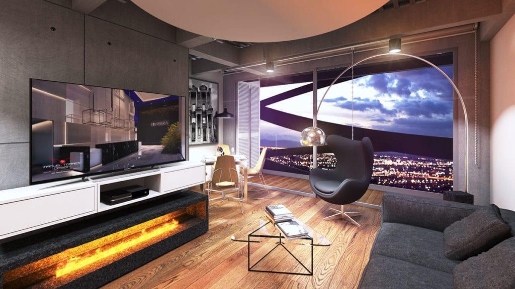 Interior de un duplex del edificio Blit donde se ha desarrollado un proyecto integral de arquitectura e interiorismo por Manuel Torres Design en Bogotá