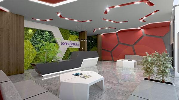 Interior del edificio López-Cotilla como ejemplo del diseño realizado por el estudio de diseño internacional de Manuel Torres Design