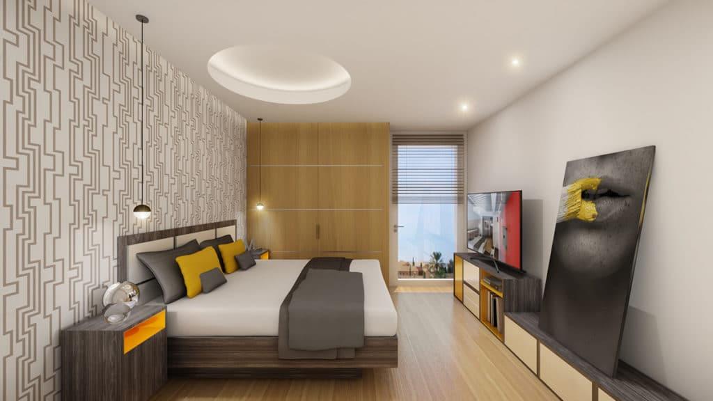 Interior de una de las 25 casas del proyecto de arquitectura e interiorismo por el estudio de Diseño Internacional Manuel Torres Design