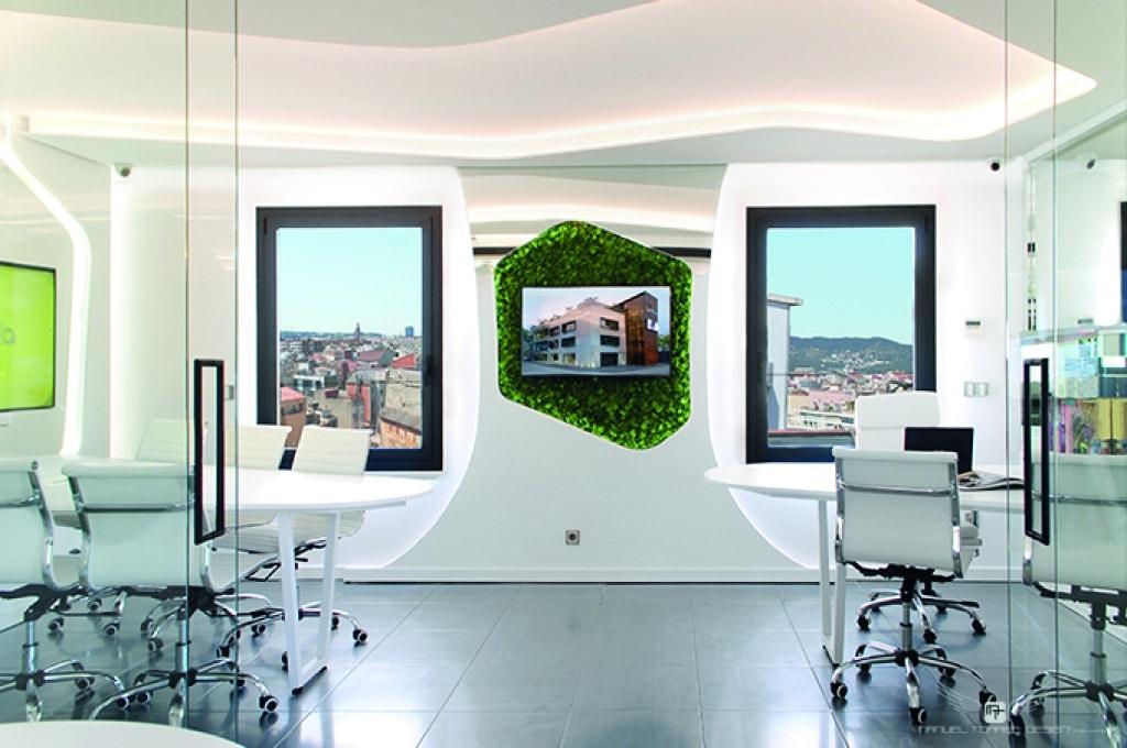 Diseño de interiores de unas oficinas en Barcelona