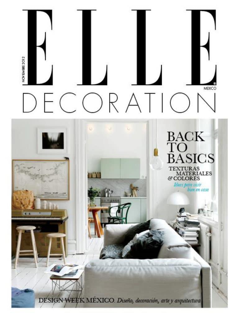 Revista Elle Decoration donde sale el diseño de interiores realizado por el estudio de diseño internacional Manuel Torres Design