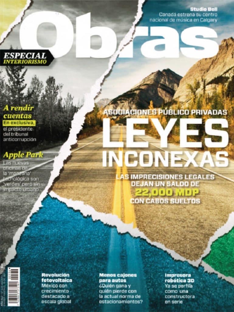 Revista Obras donde sale una construcción de Manuel Torres Design