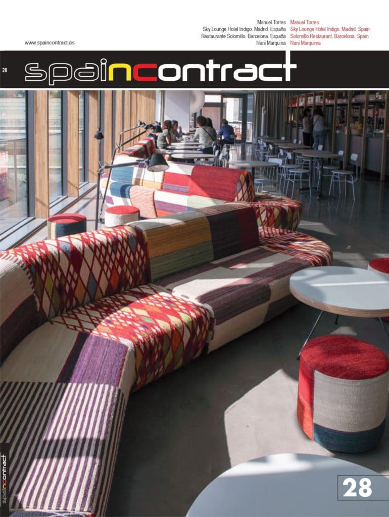 Revista Spain Contract donde sale un proyecto de arquitectura y diseño de interiores realizado por el arquitecto e interiorista Manuel Torres Design