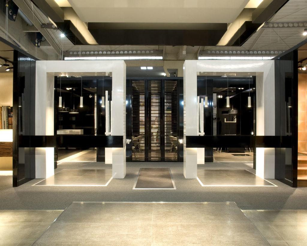 Proyecto de stand de emplazamiento del Grupo Gres Catalán para la Feria de Construmat en Barcelona diseñado por el estudio de diseño internacional de Manuel Torres Design