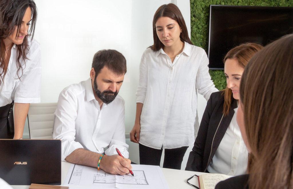Equipo del estudio de diseño en Barcelona de Manuel Torres Design