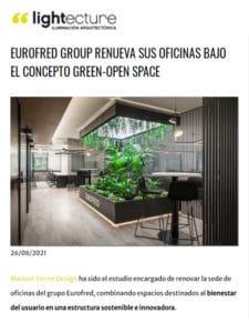 La revista Lightecture recoge el proyecto de Manuel Torres Design sobre las nuevas oficinas de Eurofred Group