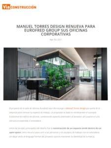 Revista Vía Construcción recoge las nuevas oficinas de Eurofred Group desarrolladas por el estudio de diseño Manuel Torres Design